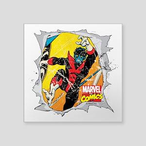 "Nightcrawler X-Men Square Sticker 3"" x 3"""