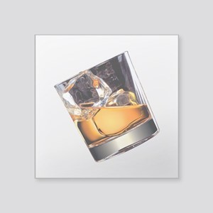 "Whisky on the Rocks Square Sticker 3"" x 3"""
