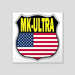 """PROJECT MK ULTRA Square Sticker 3"""" x 3"""""""