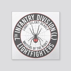 "7th Id Black Widow Square Sticker 3"" X 3&quot"