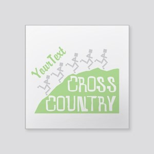 Customize Cross Country Runners Sticker