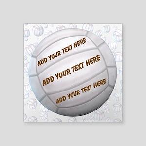 "Beach Volleyball Square Sticker 3"" x 3"""
