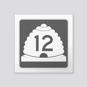 "State Route 12, Utah Square Sticker 3"" x 3"""