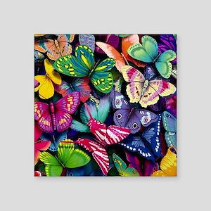 """Field of Butterflies Square Sticker 3"""" x 3"""""""