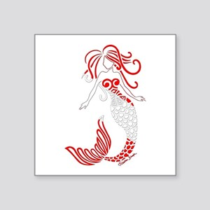 Tribal Scuba Flag Mermaid Sticker