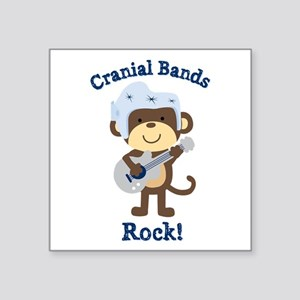 "Cranial Bands Rock Square Sticker 3"" x 3"""