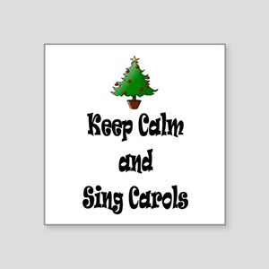 Keep Calm And Sing Carols Christmas Tree Sticker