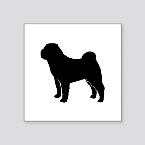 "Shar-Pei Square Sticker 3"" x 3"""