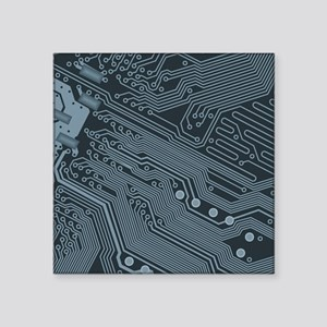 Gray Circuit Board Illustration Sticker