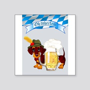 Oktoberfest Daschund with Banner and Beer Stein St