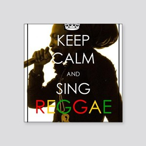 "Keep Calm and Sing Square Sticker 3"" x 3"""
