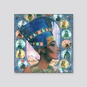 "7-Nefertiti Square Sticker 3"" x 3"""