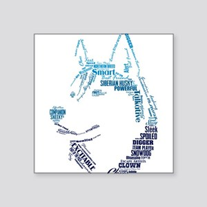 Husky Words Sticker