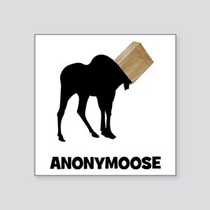 "Anonymoose Square Sticker 3"" x 3"""