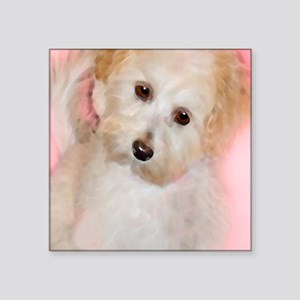 "Maltipoo Square Sticker 3"" x 3"""