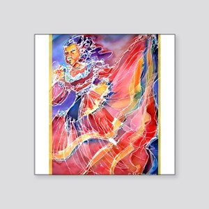 "Fiesta! Colorful, Dancer! Square Sticker 3"" x 3"""