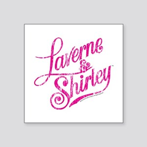 "Laverne and Shirley Pink Lo Square Sticker 3"" x 3"""