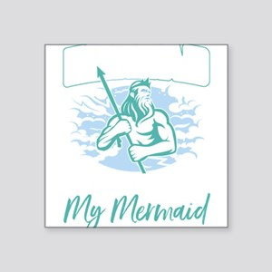 Mens Merdad Don't Mess With My Mermaid Sticker