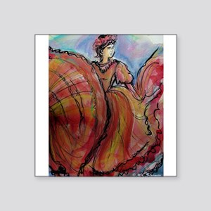 "Mexican Dancer, Fiesta, Square Sticker 3"" x 3"""