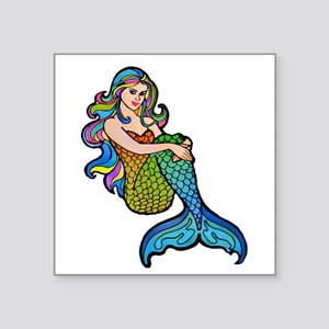 "Beautiful Mermaid Square Sticker 3"" x 3"""
