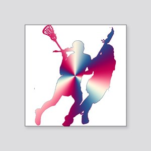 Lacrosse Red White and Blue Sticker