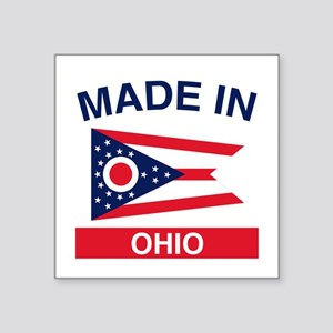 "Made in Ohio 1 Square Sticker 3"" x 3"""