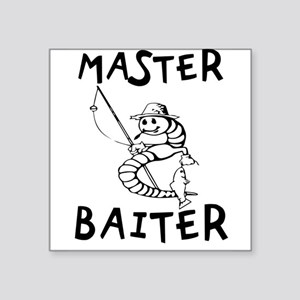 "Master Baiter Square Sticker 3"" x 3"""