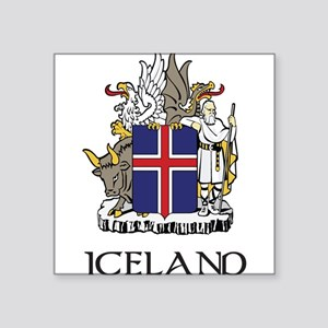 Coat_of_Arms_of_Iceland 2 DARK Square Sticker