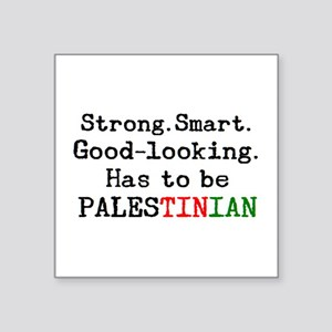 "be palestinian Square Sticker 3"" x 3"""