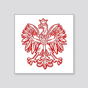 Polish Eagle Emblem Oval Sticker