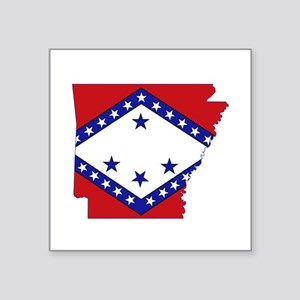 "Arkansas Flag Square Sticker 3"" x 3"""