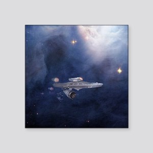 "star trek mousepad Square Sticker 3"" x 3"""