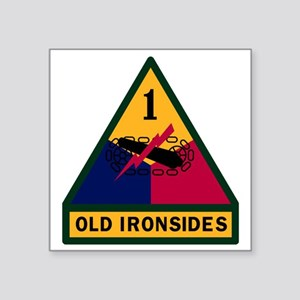"1st Armored Division Square Sticker 3"" x 3"""