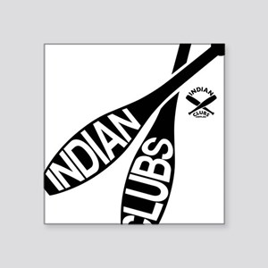 Indian Clubs with lettering LG Sticker
