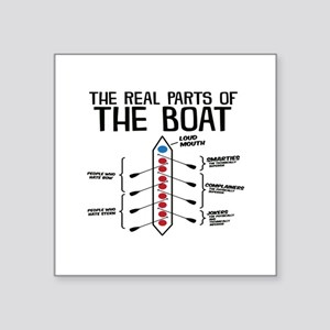 The Real Parts Of The Boat Sticker