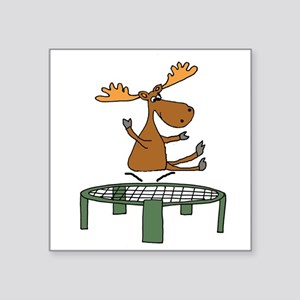 Funny Moose on Trampoline Sticker
