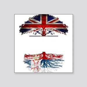British Grown With Serbian Roots Sticker