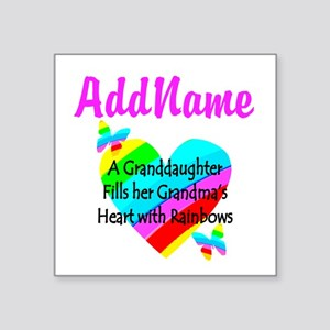 "LOVE MY GRAMMY Square Sticker 3"" x 3"""