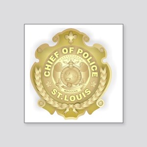 "Chief of Police 3d Metallic Square Sticker 3"" x 3"""