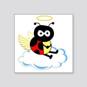 "angel_ladybug Square Sticker 3"" x 3"""