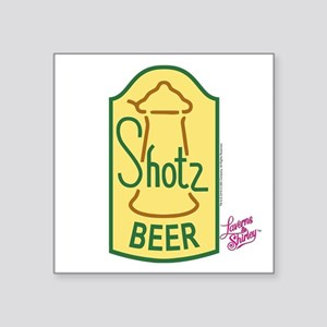 "Laverne and Shirley: Shotz Square Sticker 3"" x 3"""