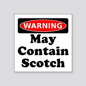 Warning May Contain Scotch Sticker