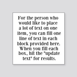 Lines of Text to Personalize Sticker