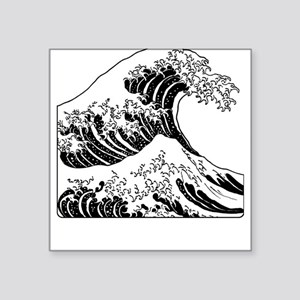 The Great Wave (Black) Square Sticker