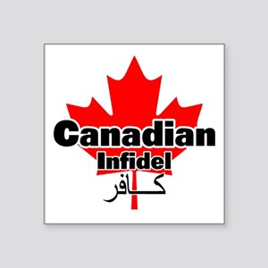 "canadianinfidel Square Sticker 3"" x 3"""