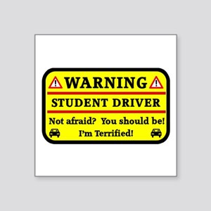 Warning Student Driver Sticker