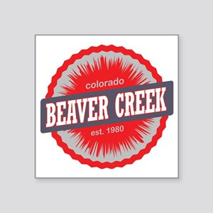 "Beaver Creek Ski Resort Col Square Sticker 3"" x 3"""