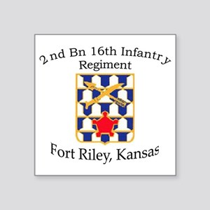 "2nd Bn 16th Infantry Square Sticker 3"" x 3"""