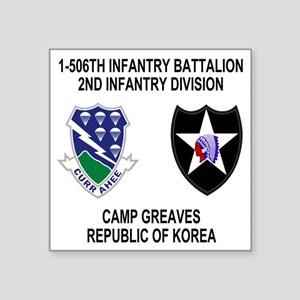 "2-Army-506th-Infantry-Korea Square Sticker 3"" x 3"""