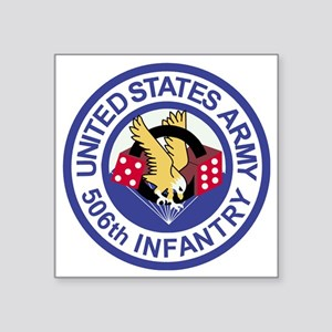 "Army-506th-Infantry-Roundel Square Sticker 3"" x 3"""